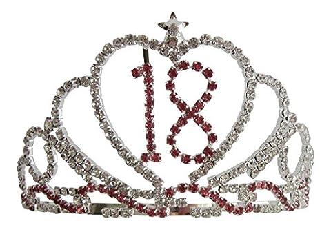 Pick A Gem Crystal Diamante 18th Birthday Tiara / 18 Tiara Pink Birthday Love Heart Crown 18 18th Birthday Gift