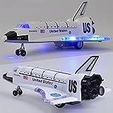 Eleganantamazing - Disparador de Espacio de aleación de 20,32 cm con luz y Sonido, Juguete de avión, Regalo para niños