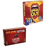 Card Boy Speak Out Game US + Exploding Kittens A Card Game Red