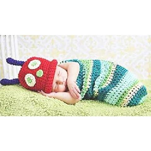 Gearmax® Recién nacido infantil hecha a mano del sombrero del bebé del ganchillo Knitting Cartoon Naughty lindo Atrezzo Fotografía Costume