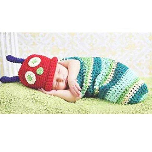 Gearmax® Baby Häkelkostüm Kostüme Fotografie Requisiten für Neugeborene Kleinkinder Jungen und Mädchen innerhalb 3 ~ 6 Monate Crochet (Bequeme Kostüme Für Babys)