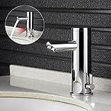 Infrarot Sensor Wasserhahn Vollautomatik IR Waschtischarmatur Einhebelmishcer Waschbecken Spültischarmatur Einhandmischer Wasserfall Badarmatur Chrom
