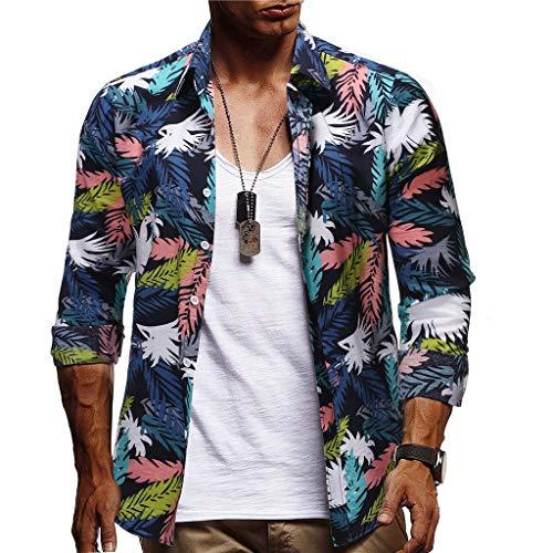 Herren Hemd Langarm Freizeithemd Urlaubshemd Hawaiihemd Männer Casual Button Hawaii Print Strand Hemden Quick Dry Tops CICIYONER - Golf-themen-licht-set