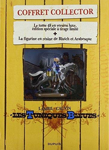 Les Tuniques Bleues : Coffret collector T48 version luxe + figurine de Blutch à cheval