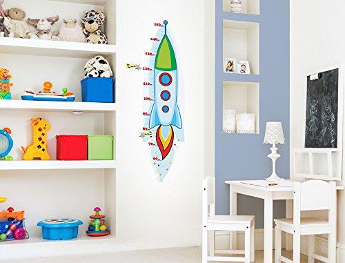 Rakete Wandtattoo (I-love-Wandtattoo M-13-010 Kinderzimmer Messlatte