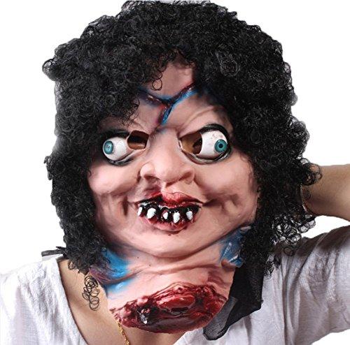 Stützen Lustige Horror Grimace Halloween Scary Kopf Masken Adult Latex Kostüm (Adult Beängstigend Kostüm)