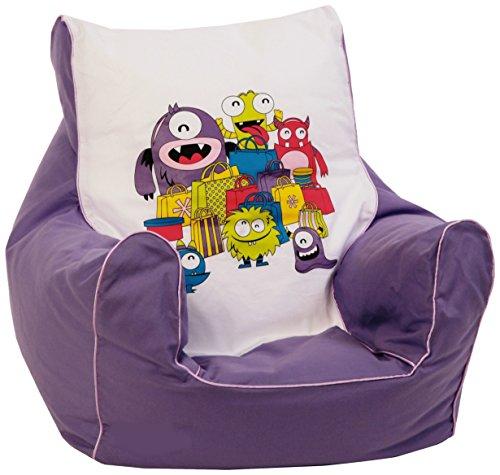 knorr-baby 450302 Kinder Sitzsack'Monster', lila
