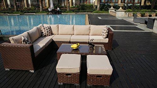 Yakoe Rattan Garden Furniture Cube Set Search Furniture