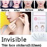 Parche para levantamiento de rostros, adhesivo invisible para maquillaje, herramientas de elevación de la cara, 40 unidades