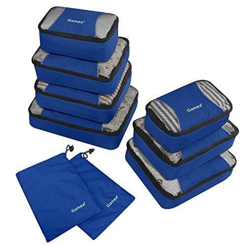 Gonex – 9 packs Packing Cubes Organizadores de Equipaje/Viaje Bolsas