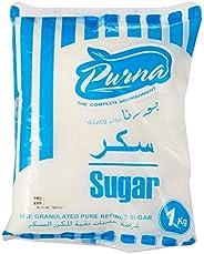 Purna White Crystal Sugar - 1 kg(Pack of 12)