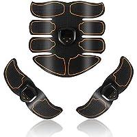 Seasaleshop Electroestimulador Muscular Muscular Abdominales Cinturón Abdomen/Brazo / Piernas/Cintura Entrenador Muscular,EMS Chip Inteligente,Carga USB,Unisex