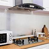 61x500cm Aluminium Folie Küchenschrank-Aufkleber Alufolie Aluminiumfolie Alurolle Wasserdicht Anti-Schimmel Öl-resistent Küchen Tapete Klebefolie Küchenfolie(Type B)