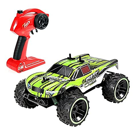 GP - NextX S620 RC Car Remote Control Truck, 2.4 GHz PRO System 1:16 Scale Off Road Electric Racing Car, Green