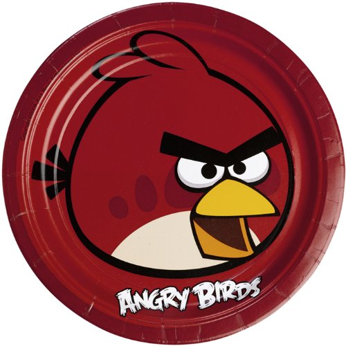 PARTY DISCOUNT NEU Teller Angry Birds 8 Stk. Ø 23 cm (Angry Birds Teller)