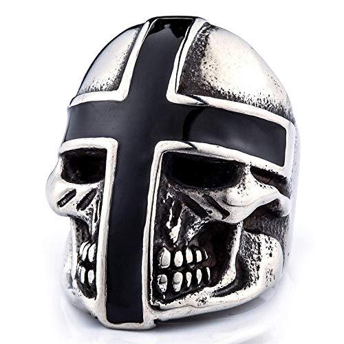 XBOMEN Vintage Rock Punk joyería templarios del Anillo del cráneo Anillos del Acero Inoxidable para los Hombres