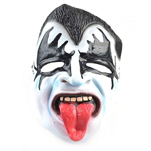 Halloween Party Kostüm Cosplay Maskerade Maske Latex Zunge Geist Treufel Karneval Horror Zubehör Verkleidung Deko