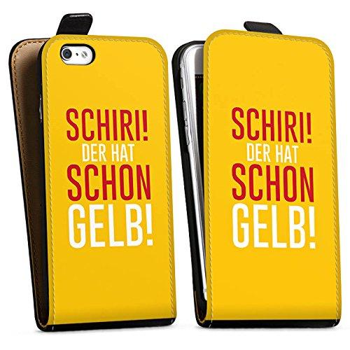 Apple iPhone X Silikon Hülle Case Schutzhülle Fußball Kreisliga Schiri Downflip Tasche schwarz