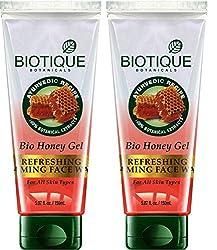 Biotique BIO HONEY GEL Refreshing Foaming Face Wash For All Skin Types- 100g (pack of 2)