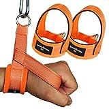 1 Paar Einhand Kabelzug Griffe / Trainings Griff / Latzug Einhandgriff NEONORANGE