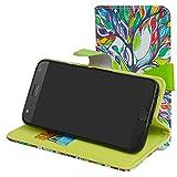 Moto X4 Hülle,Mama Mouth Brieftasche Schutzhülle Case Hülle mit Kartenfächer und Standfunktion für Motorola Moto X4 Smartphone,Love Tree
