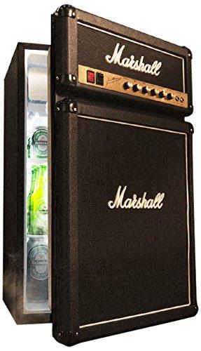 Marshall fridge freestanding 124.6l black combi- - combi-fridges (freestanding, black, right, lever, rotary, glass, mini bar)