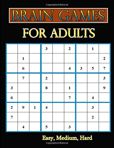 Brain Games For Adults: Easy, Medium, Hard Sudoku Puzzle Book bargain bonanza for Sudoku lovers por Hanna Laura