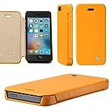 Jisoncase JS-IP5-03H80 Handytasche Book-Type KLASSISCH, für iPhone 5 / iPhone 5s / iPhone SE, gelb