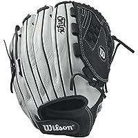 Wilson Onyx Victoria Web Fastpitch guante, Unisex, blanco/negro