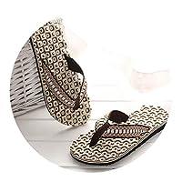 Ablaze Jin-eu mens slippers Comfortable Massage Flip Flops Sandals Male Slipper Indoor Outdoor Flip-Flops Casual Beach Shoes4,Brown,10