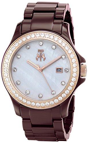 Jivago Women's JV9415 Ceramic Analog Display Quartz Multi-Color Watch