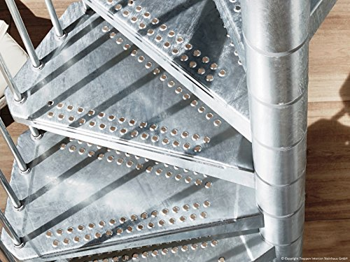 Arke OUTER Staircase Civik Zinc 120/140cm x 160cm Diameter Silver Edition
