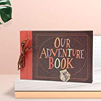 FGHHJ Scrapbooking Our Adventure Book Scrapbook Gift Diy Handmade Album Scrapbook Movie Up Family Travel Scrapbook Anniversary Wedding,Chocolate