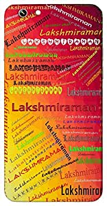 Lakshmiraman (Lord Vishnu) Name & Sign Printed All over customize & Personalized!! Protective back cover for your Smart Phone : Micromax YU Yureka AO5510