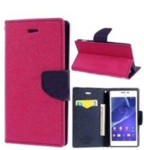 FINDX Luxury Lock Diary Wallet Style Flip Cover Case for SONY XPERIA C (c2305) -Red  available at amazon for Rs.240