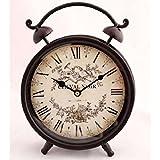 Deko Wecker CHEVAL NOIR Uhr Metall Romantik Shabby Chic Landhaus Stil Nostalgie