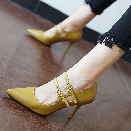 FLYRCX Primavera e autunno in stile Europeo, elegante personalità, tacco alto scarpe, parte scarpe scarpe da lavoro c