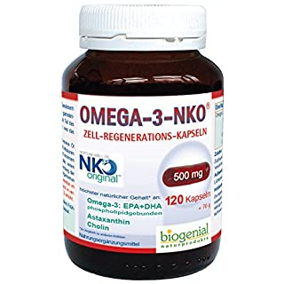 Omega-3-NKO Krill Öl Zell-Regenerations-Kapseln Größe 120 Kapseln