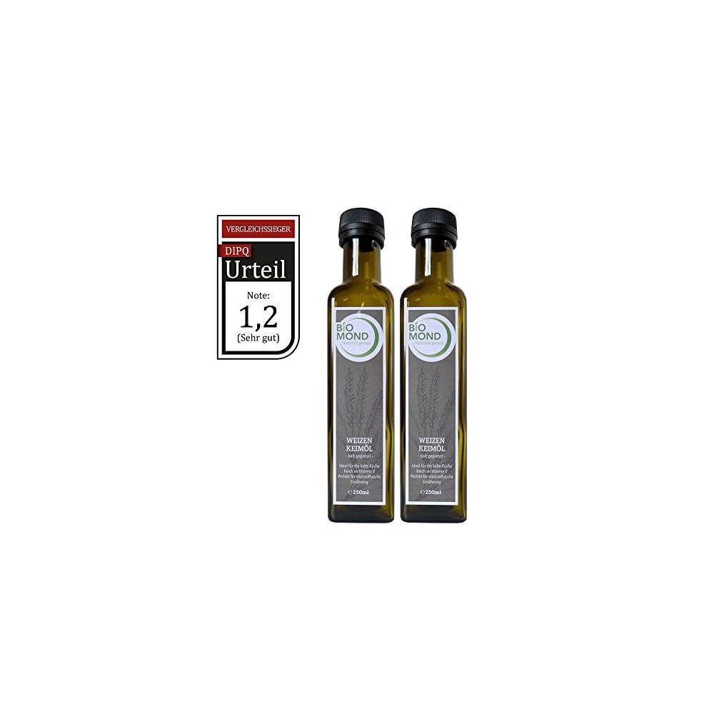 Weizenkeiml Von Biomond 2 X 250 Ml Vorteilspack Testsieger Dipq Hochwertiges Gourmetl Kalt Gepresst