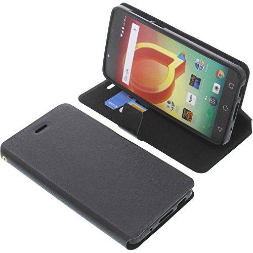 foto-kontor Tasche für Alcatel A50 Book Style schwarz Schutz Hülle Buch