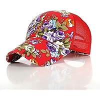 DRTWE Unisex para Gorra De Beisbol,Floral Malla Roja Silent Flower Hat Moda Transpirable Verano Gorra De Béisbol Innovador De Secado Rápido Sombrero Personalidad Luz Sol Sombrero