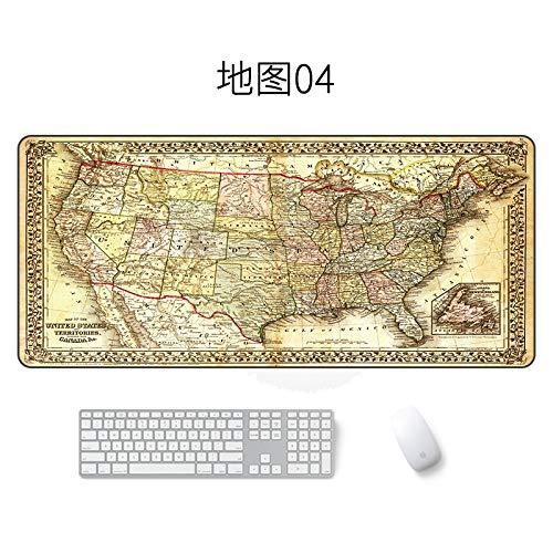 Preisvergleich Produktbild Kartenmausunterlage große wasserdichte Mausunterlagenkarte 04 400 * 900 * 4mm