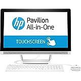 HP Pavilion (24-b256ng) 60,45 cm (23,8 Zoll / Full HD-IPS Touchscreen) All-in-One Desktop PC (Intel Core i3-7100T, 8 GB RAM, 1 TB HDD, Intel HD-Grafikkarte 630, Windows 10 Home 64) weiß