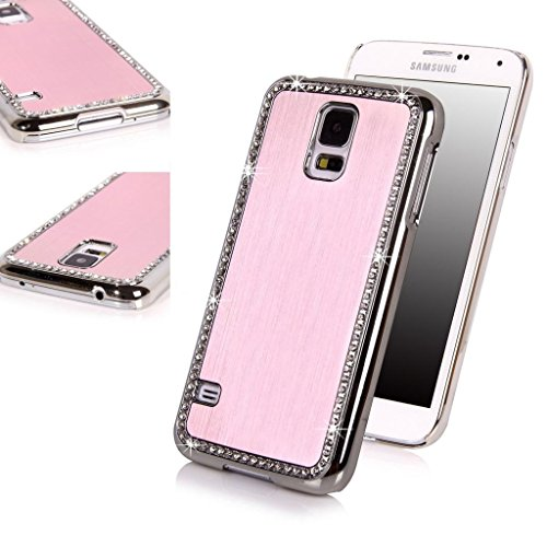 Practical Quality Luxury Bling Samsung Glaxay S5 Practical Quality Luxury Bling Diamond Crystal Hard Glitter Case Cover Shell (Pink) for Samsung Glaxay S5 Diamond Bling Hard Case