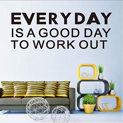 (Hjcmhjc) Jeden Tag Ist Ein Guter Tag Wandkunst Aufkleber Vinyl Wandaufkleber Für Arbeitszimmer Büro Wohnzimmer Moderne Tapete Removable Home Decor