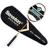 Senston Performance Raquette de Badminton Haute qualit¨¦ Tout Graphite Unique(4U-G4/G5)7 Couleur Avec Raquette Couverture