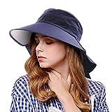 EINSKEY Fischerhut Damen UV Schutz Breite Krempe Hut Faltbar Outdoor Sonnenhut mit Nackenschutz