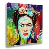 Giallobus - Quadro già intelaiato Pronto da Appendere - Stampa su Tela Canvas - Frida - Quadri Moderni per arredo casa Design - Vari Formati XXL - 70x70 cm