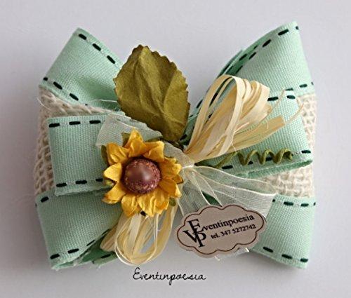 geschenke Hochzeit Konfirmation Kommunion Taufe Fliege Confetti, grün (Bestätigung Party)