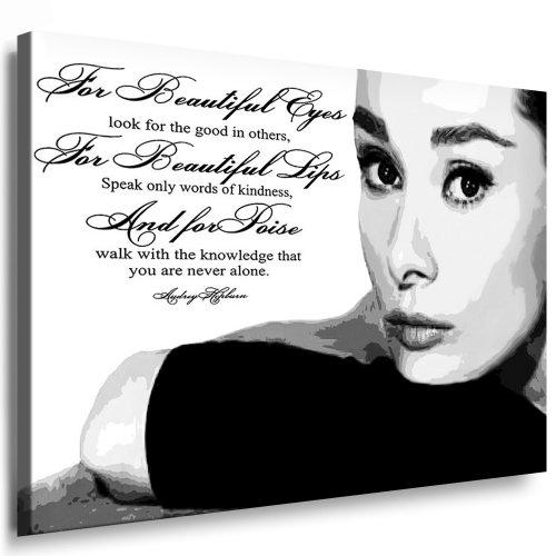 Kunst auf Leinwand `Audrey Hepburn` Bild fertig auf Keilrahmen ! Pop Art Gemälde Kunstdrucke, Wandbilder, Bilder zur Dekoration - Deko. Film / Movie / Tv Stars Kunstdrucke